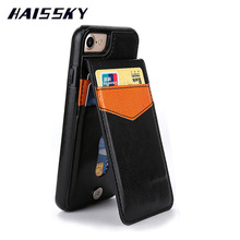 HAISSKY Brand For iPhone 7 Case iPhone 7 Plus Phone Cases Cover Leather Luxury Wallet Card Anti-knock Flip Stand Mobile Fundas