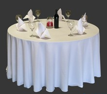 90inch Round White 210GSM 100% Polyester Tablecloth For Wedding,Party,Hotel Use(China)