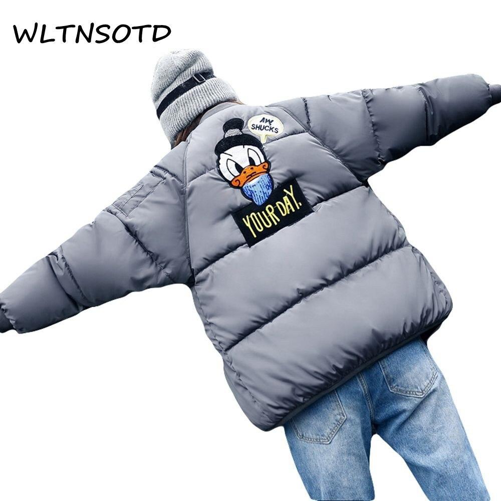 2017 winter new women short Stand collar jacket female small cotton jacket back cartoon pattern parka warm bread coatÎäåæäà è àêñåññóàðû<br><br>