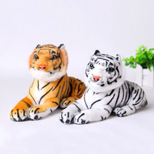 White Yellow PP Cotton Cute Plush Tiger Animal Toys  Lovely Stuffed Doll Animal Children For Kids Birthday Gift Pillow