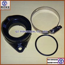 Free shipping new and original high quality for SUZUKI GN250 carburetor intake pipe manifold kit with aprons and embrace hoop