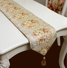 Coffee color Table Runners Quality Tablecloth Wedding table runners wedding decoration home deco(China)