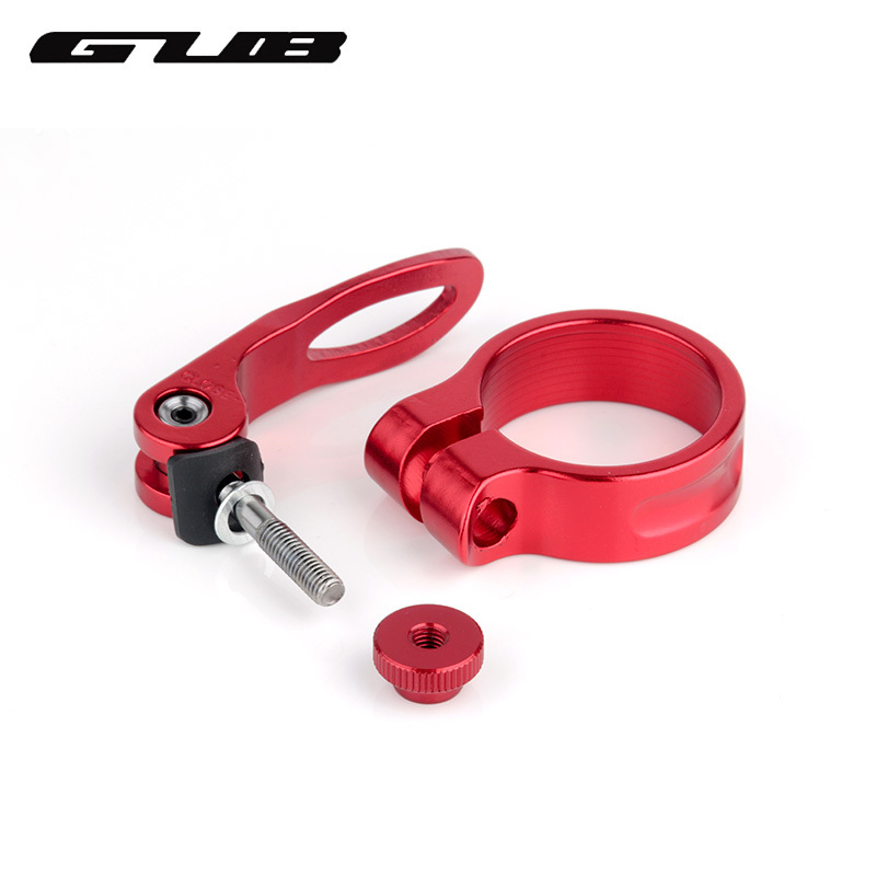 Lightweight Bike Seatpost Clamp Aluminum Alloy 31.8mm Quick Release Clamp
