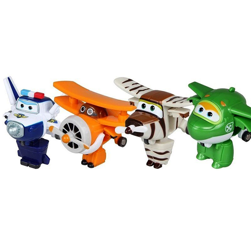 8pcs/set MINI Airplane Anime Super Wings Model toy Transformation Robot Action Figures superwings toys for Children Kids 12