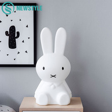 50cm Baby Bed Room Rabbit Night light Dimmable Children LED Night Lamp Cartoon Decorative Lamp for Baby Bedroom Children Gift(China)