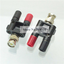 3pcs Adapter BNC male plug to two dual 4mm Banana binding female connector(China)