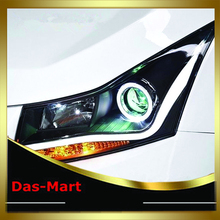 Car Styling For New Chevrolet Cruze 2010 2011 2012 2013 2014 Lightbar DRL Headlight Halo Projector Head Lamp
