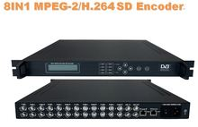 8IN1 MPEG-2/H.264 SD Encoder Radio & TV Broadcasting Equipment sc-1314(China)