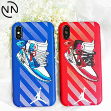 Hot Trend Street Flying Man Air Dunk Jordan Phone Cases iphone 6 6S 7 8 Plus X 10 XS XR MAX AJ1 Sports Shoes Soft Cover Case