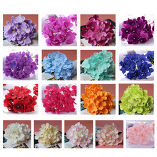 10 Pcs/lot 15cm Large Hydrangea Silk Flowers Heads for Wedding Party DIY White Tiffany Blue