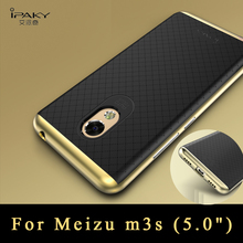 Meizu m3s, case Original iPaky Brand Luxury Silm Meizu m3s mini Armor PC Frame + silicone Back Cover For meizu m3 s cases 5.0""
