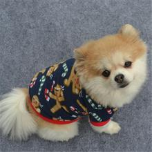 Cool Fashion Durable Attractive Warm Pet Dog Puppy Christmas Autumn Winter Warm Pullover Embroidered Clothes Coat Dog Clothes