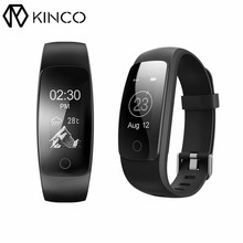 KINCO OLED Bluetooth Heart Rate Monitor Smart Bracelet 5 Colors Sleep Tracking Call SMS Alert Smart Wristband for IOS/Android(China)