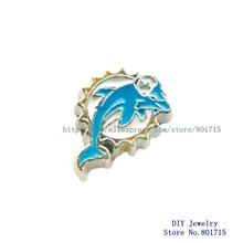 Miami Dolphins the NFL football teams FC1207 floating locket glass charm for living floating locket as gift 10pcs