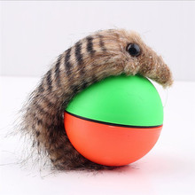 1Pc Pet Rolling Ball Funny Alive Dog Cat Animal Weasel Jumping Moving Rolling Motor Ball Pet Toy Kids Children Ball(China)
