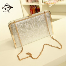 New Luxury Shining Evening Bag Metal Frame Women Bag Clutch Tote Ladies Chain Party Crossbody Shoulder Handbag Purse Messenger