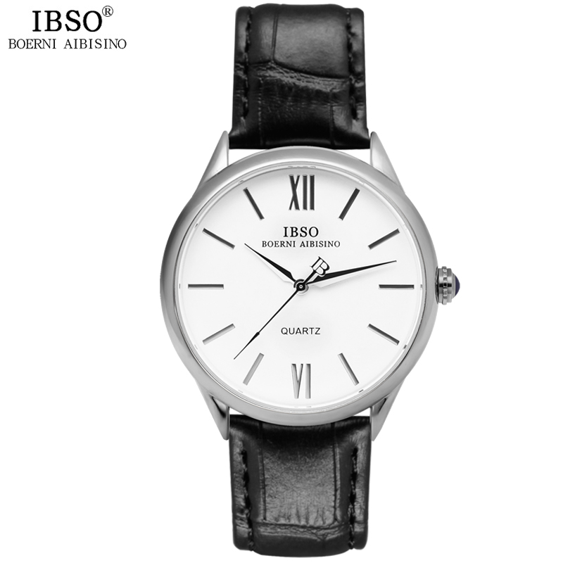 IBSO Top Brand Luxury Classic Watch Men 2016 Leather Strap Mens Watches 2016 Fashion Clock Men 3ATM Waterproof Relogio Masculino<br><br>Aliexpress