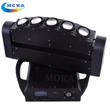 2PCS/lotDMX 5 Eyes Beam Moving Head wash Light 5x10w led beam bar moving head 4in1 RGBW led fixture