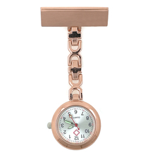 Name Engraving Japan Movement Alloy Nurse Watch with Safety Brooch Pin Hanging Pocket Nurse Fob Watch Relog Luminous Hands(China)