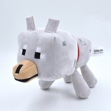 High Quality Minecraft 22cm Gray Wolf Game Roles Soft Plush Toys PP Cotton Cartoon Cute Dolls Brinquedos Collection Gifts(China)