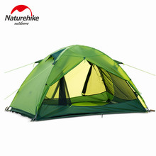 2016 Naturehike ultralight Tents 1.7kg Double layers Professional silicone coated fabric waterproof 10000mm camping&hiking tent