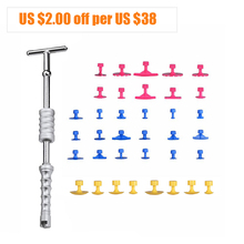 PDR Tools Paintless Dent Repair Slide Hammer Reverse Hammer Dent Puller Suckers Suction Cup Glue Tabs Tools Kit Ferramentas