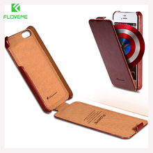 FLOVEME Flip Crazy Horse Luxury Case for iPhone 4 4S 4G PU Leather Cover Vertical Fashion Deluxe Retro Case for iphone 4 4S(China)