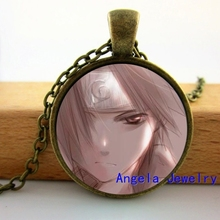 NS-00502 New Fashion Naruto Pendant Neckalce Anime Character Pendant Glass Dome Pendant Necklace HZ1