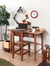 Modern Wood Computer Laptop Desk Table Workstation For Home Office Furniutre Desktop Study Table Wooden Notebook Writing Table(China)