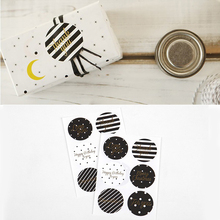 nice 90pcs gold black simple fashion Stickers as Food Tags Labels Gift Tag,birthday Home Christmas Decoration Adhesive Sticker