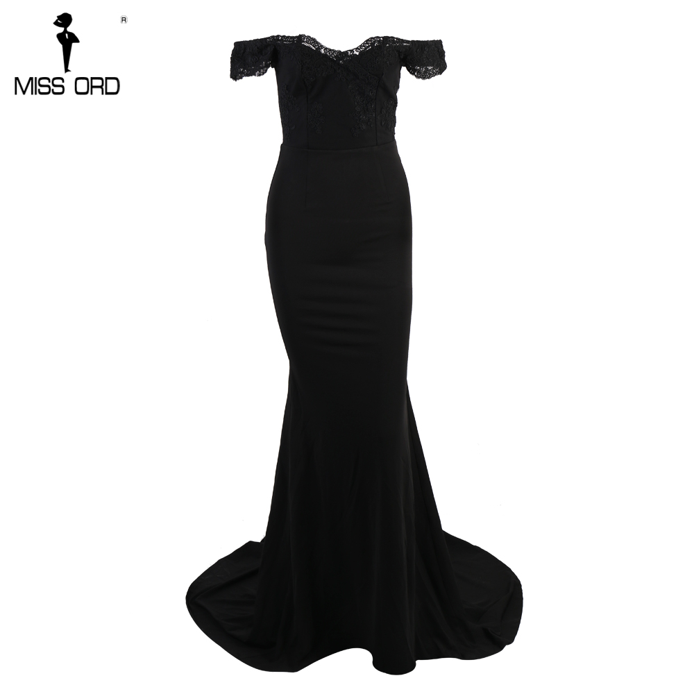فستان سهرة  Missord جذاب مع ذيل وذو تصميم مميز 11