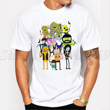 Anime Rick And Morty men fashion t-shirt Walking Dead Time cartoon printed male tops hipster funny cool tee shirts