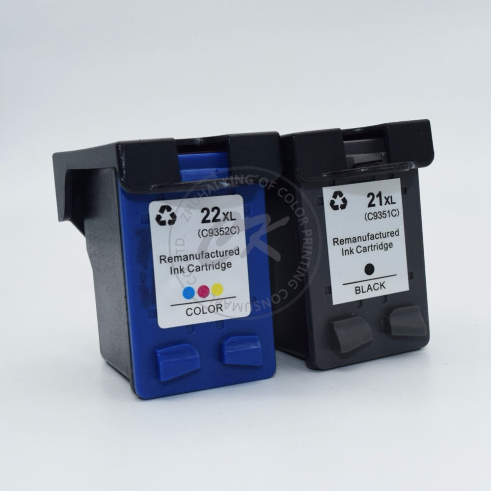 1Set compatible ink cartridge for hp21 hp22XL C9351A C9352A for HP21 HP22 3915 F2100 f2280 f4100 f4180 D1530 D1311 D1455printer<br><br>Aliexpress