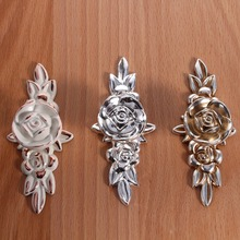 3Pcs/lot High Quality Antique Zinc Alloy Gold Rose Sharp Cabinet Drawer Cupboard Dresser Pull Handle Door Knob 103mm Fashion