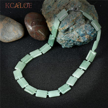 KCALOE Chinese Stones Chokers Necklaces For Women 2017 Vintage Accessories Jewelery Natural Green Stone Necklace Collares Mujer(China)