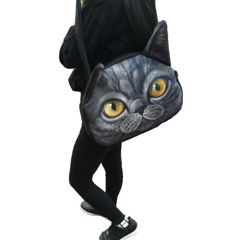 2017 leather cute cat face bag fashion design women chain shoulder bags<br><br>Aliexpress