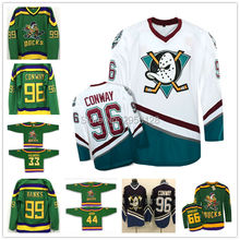 Movie Mighty Ducks jerseys cheap High quali Ice Hockey Jersey 96 Charlie Conway 8 SELANNE 9 Paul Kariya 13 SELANNE purple white