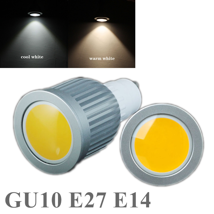 GU10 E27 E14 COB 7W/9W LED Bulb Light dimmable LED SpotLight AC85-265V Cold White/Warm White COB Lighting Free Shipping<br><br>Aliexpress