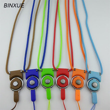 BINXUE Lanyard Easy to buckle badge Access control Thickened muhifunctional polyester rope colour(China)