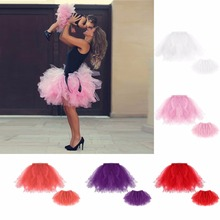 Puseky Mother Daughter Women Girls Tutu Dress Skirts Mini Ballet Princess Fancy Family Dress Kids Girl Party Wedding Vestidos(China)