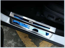 High Quality body outside threshold strip stainless steel Door Sill Scuff Plate External pedal For Kia Sportage KX5 2016 2017(China)