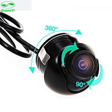 GreenYi Mini CCD 360 Degree Car Rear View Camera Front Side View Backup Camera With Mirror Image Conversion Line