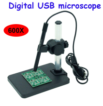 600X Digital USB microscope Portable video microscope magnifier with 8 LED lights Microscope Endoscope Magnifier Video Camera