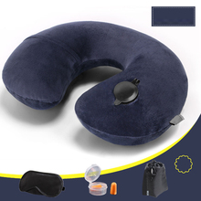 Air Inflatable Mattress Pillow U-shaped Camping Pillow Airplane Air mat inflatable pillow cushions Camping equipment