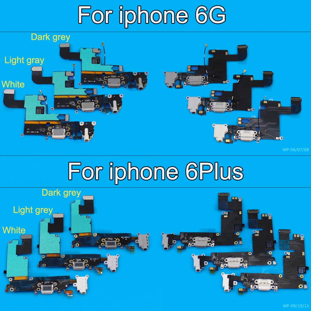Jing Cheng Da For iPhone 6 6 Plus Charger Charging Data USB Dock Port Flex Cable With Headphone Audio Microphone