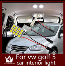 Guang Dian 6pcs car led light interior light Reading lamp Dome light Roof bulb  kit T10 festoon for vw golf 5 accessories