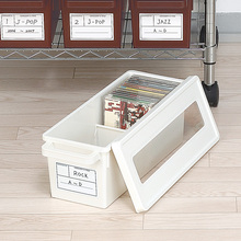 High Quality Game CD Organizer CD Storage Case Box Container CD DVD Disk Storage Box with Anti-Theft Lid(China)