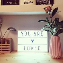 2/3 Row DIY Lovely LED Light Box for Wedding Party Home Decor Little Birthday Gift Table Office Desk Lamp with 96 Letters