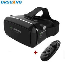 100pcs/lot VR SHINECON 3.5-6.0 inch Virtual Reality 3D Movies Games Glasses+Bluetooth Remote Control for iPhone Google HTC etc.(China)