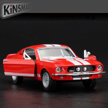 Kinsmart Mustang Shelby GT500 1967 1/38 alloy models model car back pull back car children's toys car Kids toy FreeShipping